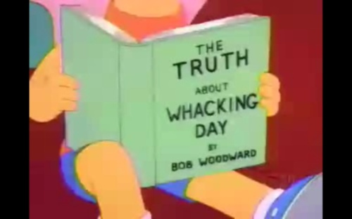 Bart reads Bob Woodward